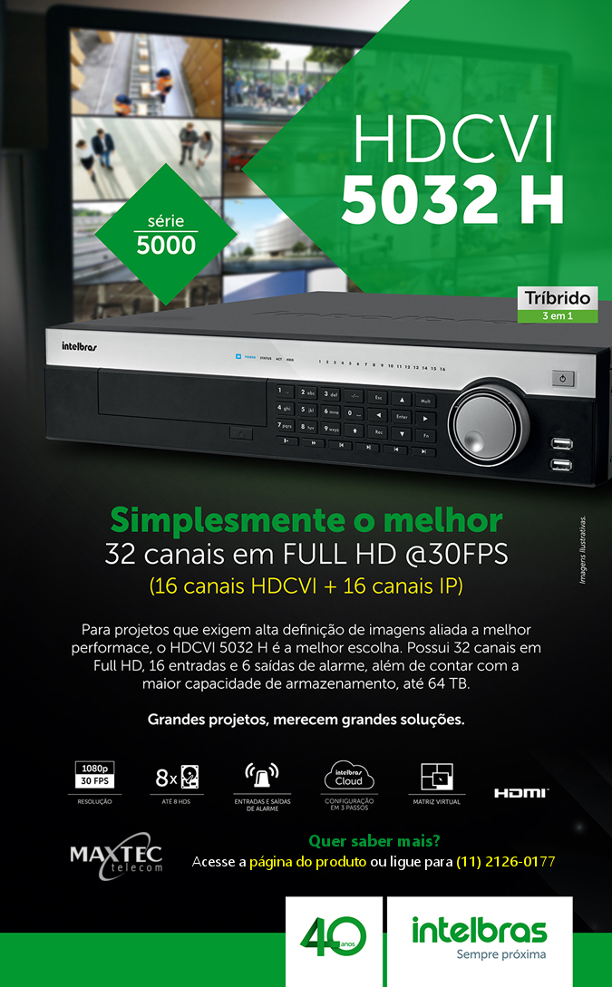 DVR Intelbras HDCVI 5032 H
